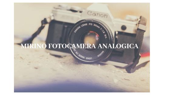 Il mirino della fotocamera Analogica